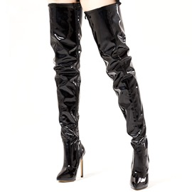 Ericdress Plain Side Zipper Stiletto Heel Over The Knee Boots