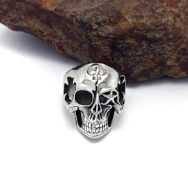 Ericdress Alloy Skull Seven Men's Ring
