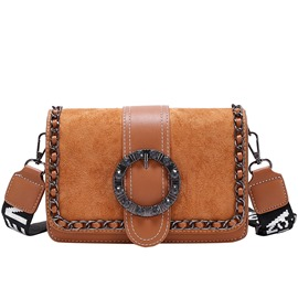 Ericdress Plain Chain PU Rectangle Crossbody Bags