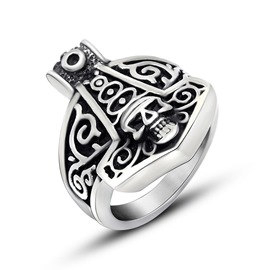 Ericdress Evil Skull Ring For Men
