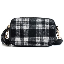 Ericdress PU Thread Plaid Flap Crossbody Bags