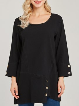 Ericdress Loose Scoop Casual Mid-Length Long Sleeve T-shirt