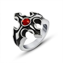 Ericdress Cow Gems Men's Ring