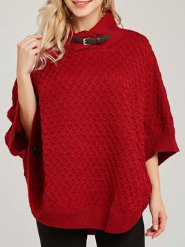 Ericdress Asymmetric Batwing Sleeve Mid-Length Straight Sweater