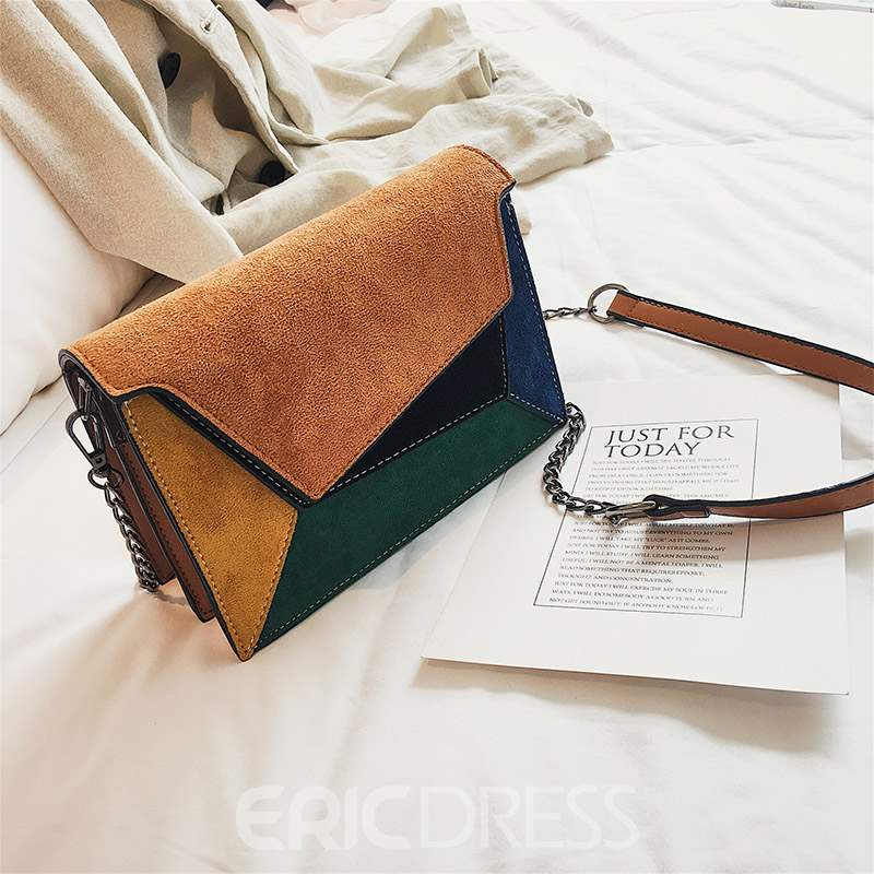 Ericdress Thread PU Rectangle Crossbody Bags