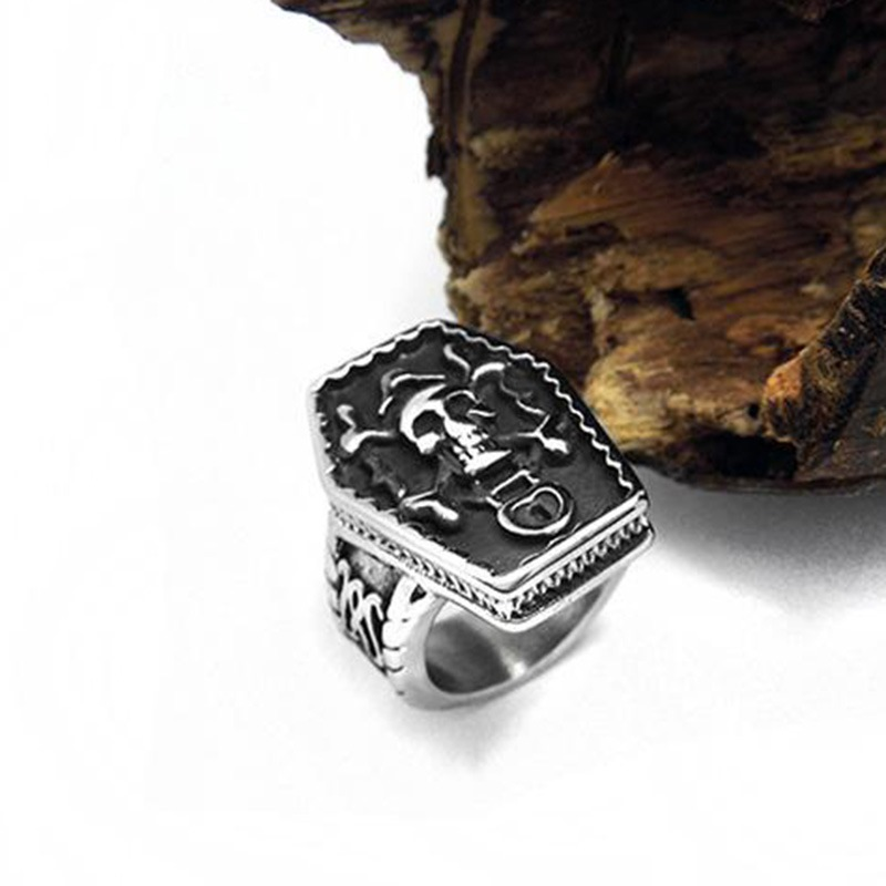 Ericdress Design Skull Ring For Men
