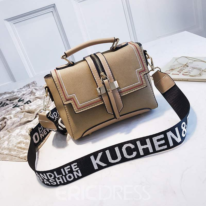 Ericdress PU Patchwork Square Crossbody Bags