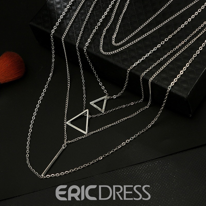 Ericdres Triangle Multilayer Necklace For Women
