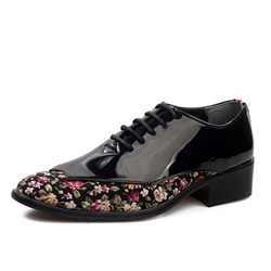 Ericdress Floral Patchwork Low-Cut Upper Mens Dress Shoes фото