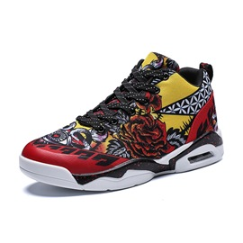 Ericdress Print Floral High-Cut Upper Men's Sneakers