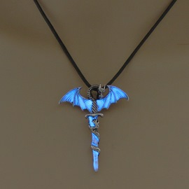 Ericdress Light Dragon Charm Necklace