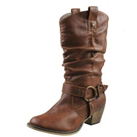 Ericdress Round Toe Slip-On Women's Calf High Boots