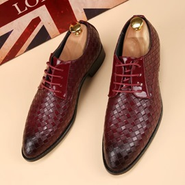 Ericdress Plain Round Toe Lace-Up Men's Shoes