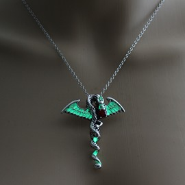 Ericdress Halloween Diamante Dragon Necklace