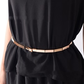 Ericdress Metal Bamboo Narrow Band Elastic Belt