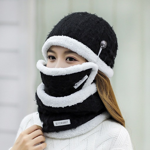 Ericdress Winter Warm Mask&Hat&Scarf