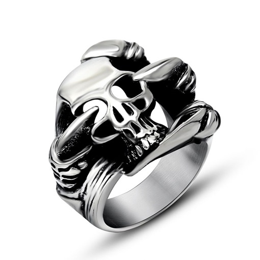 Ericdress Skull Hollow Out Men Ring
