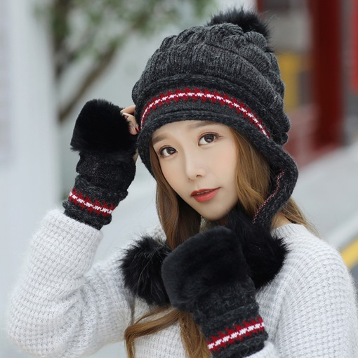 Ericdress Winter Women Glove&Hat