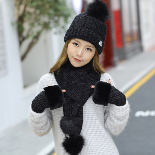 Ericdress Winter Women Glove&Scarf&Hat