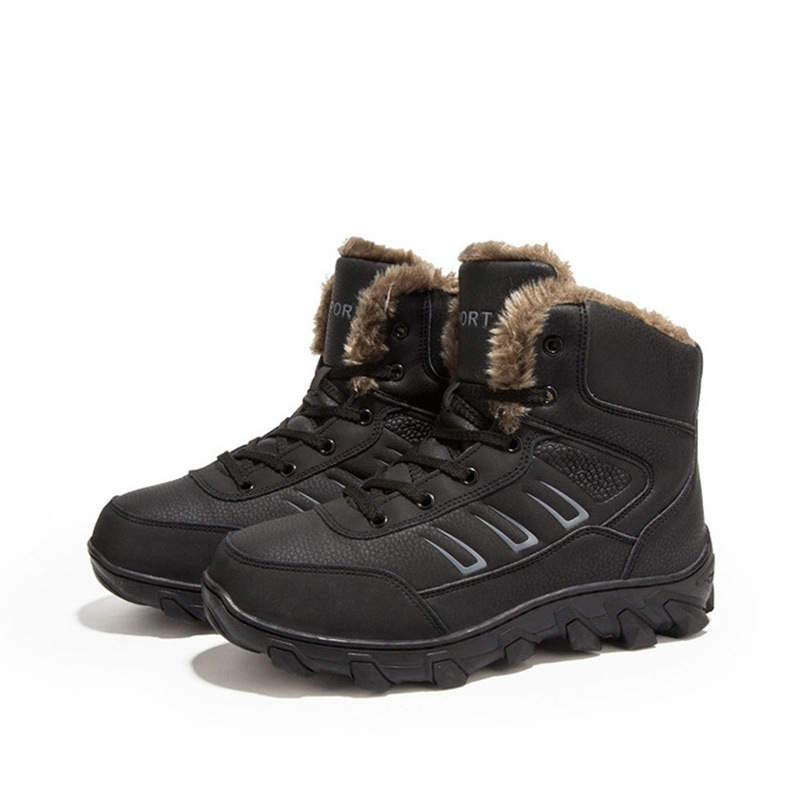 Ericdress Round Toe Lace-Up Men's Snow Boots