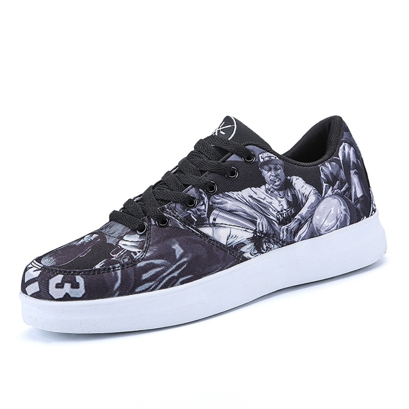 Ericdress Print Mesh Round Toe Lace-Up Men's Sneakers