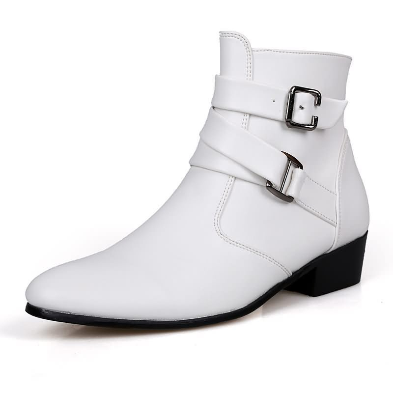 Ericdress Plain Round Toe Side Zipper Men's Boots