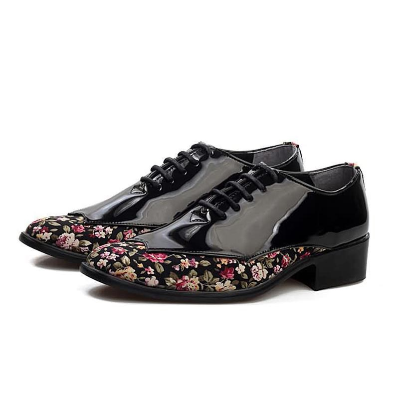 Ericdress Floral Patchwork Low-Cut Upper Men's Dress Shoes