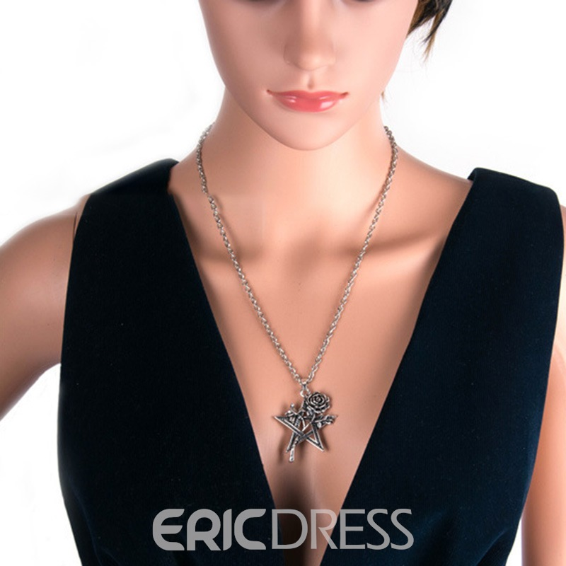 Ericdress Star Rose Charm Necklace