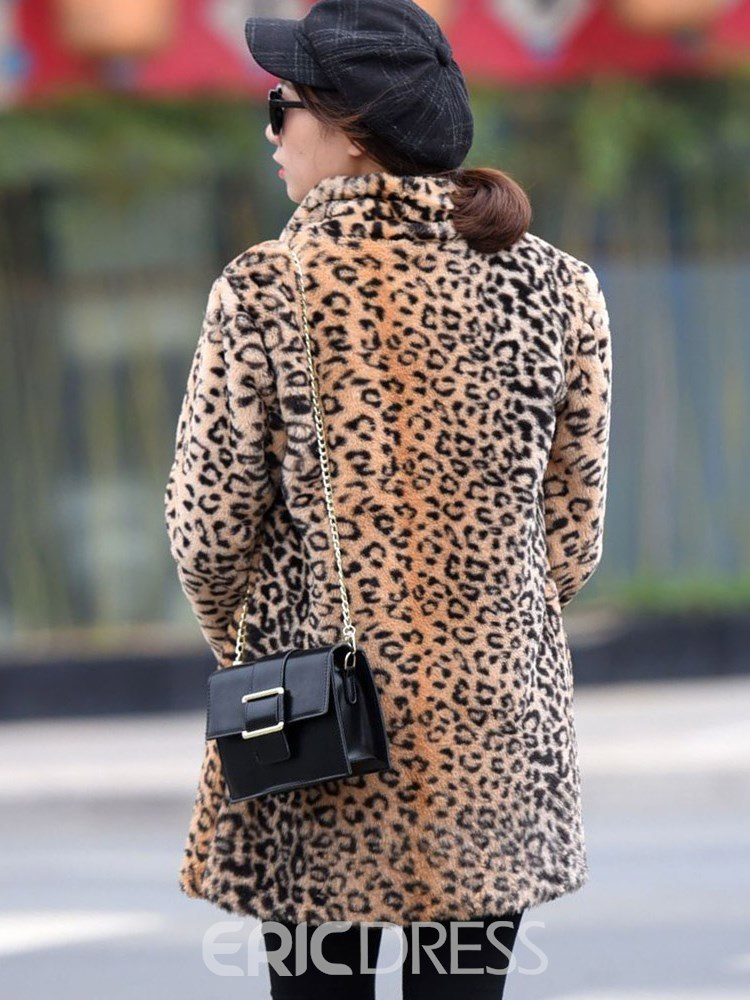 Ericdress Loose Leopard Sexy Long Sleeves Coat