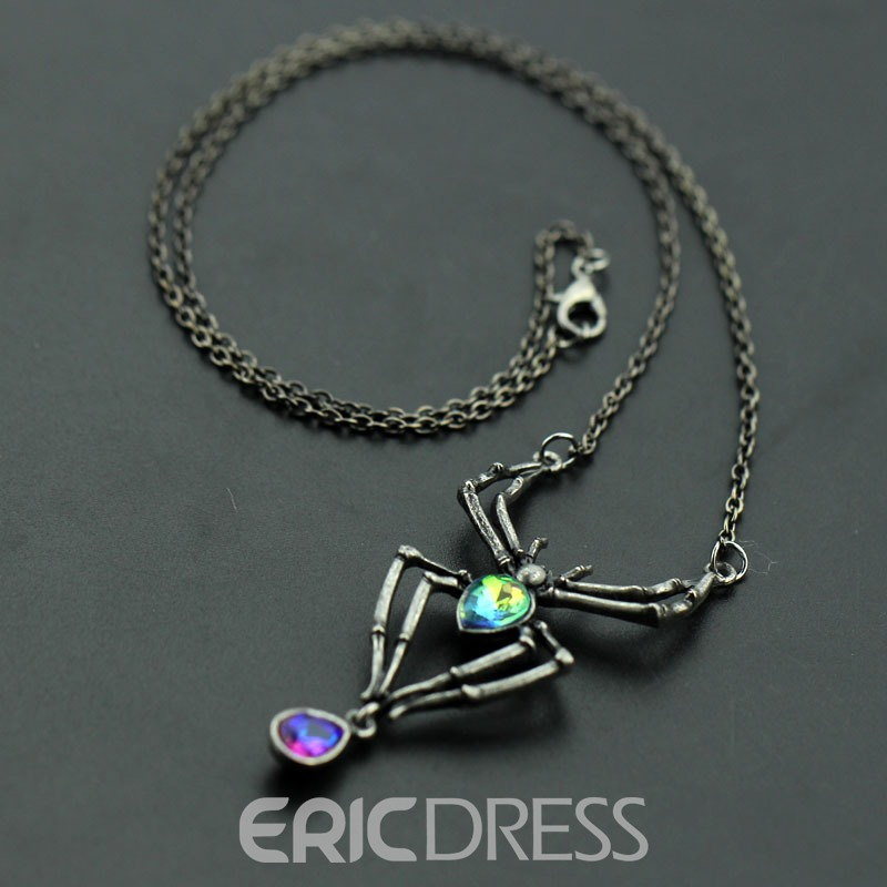 Ericdress Spider Charm Necklace