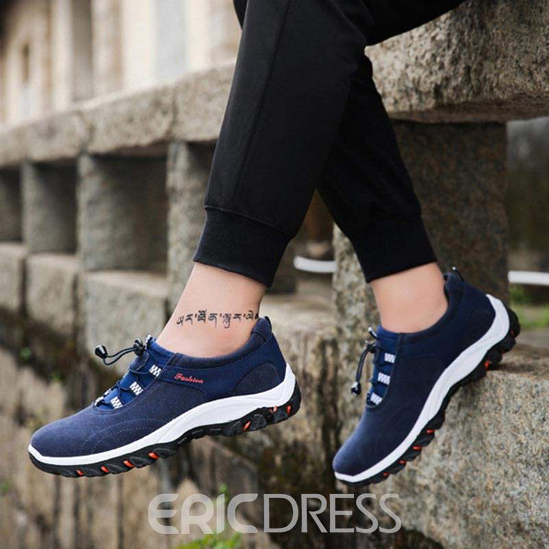 Ericdress Suede Patchwork Elastic Band Men's Casual Shoes
