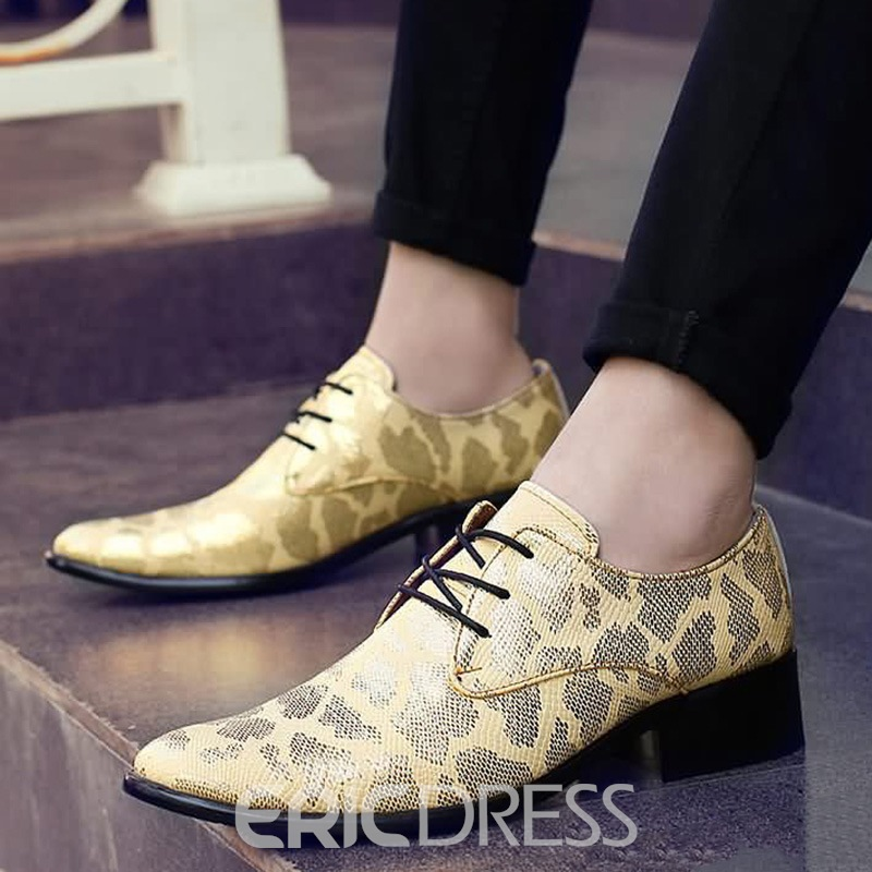 Ericdress Sequin Pointed Toe Low-Cut Upper Men's Shoes