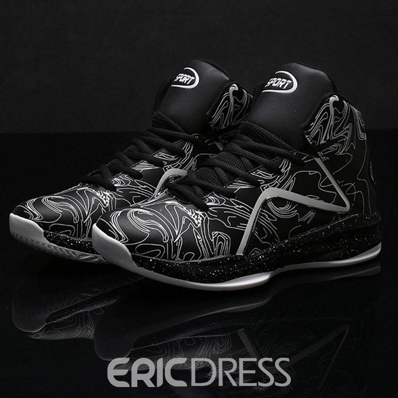 Ericdress Print Round Toe Lace-Up Men's Sneakers
