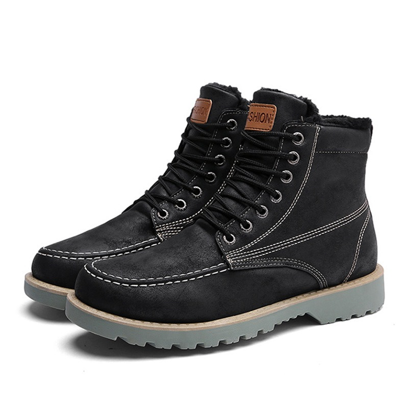 Ericdress Round Toe Lace-Up Front Men's Boots