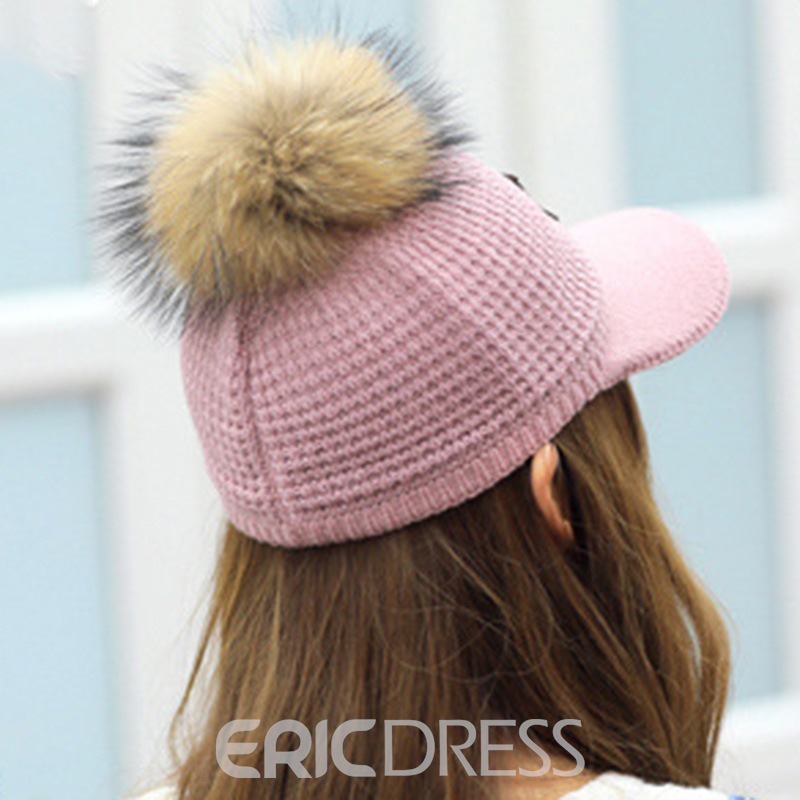 Ericdress Fluff Ball Winter Hat