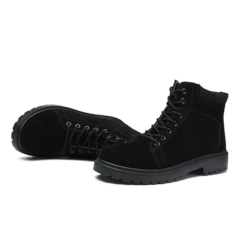 Ericdress Round Toe Lace-Up Front Men's Martin Boots