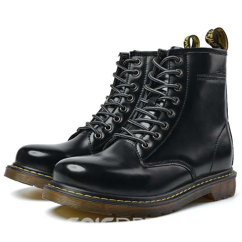Ericdress PU Round Toe Lace-Up Men's Boots
