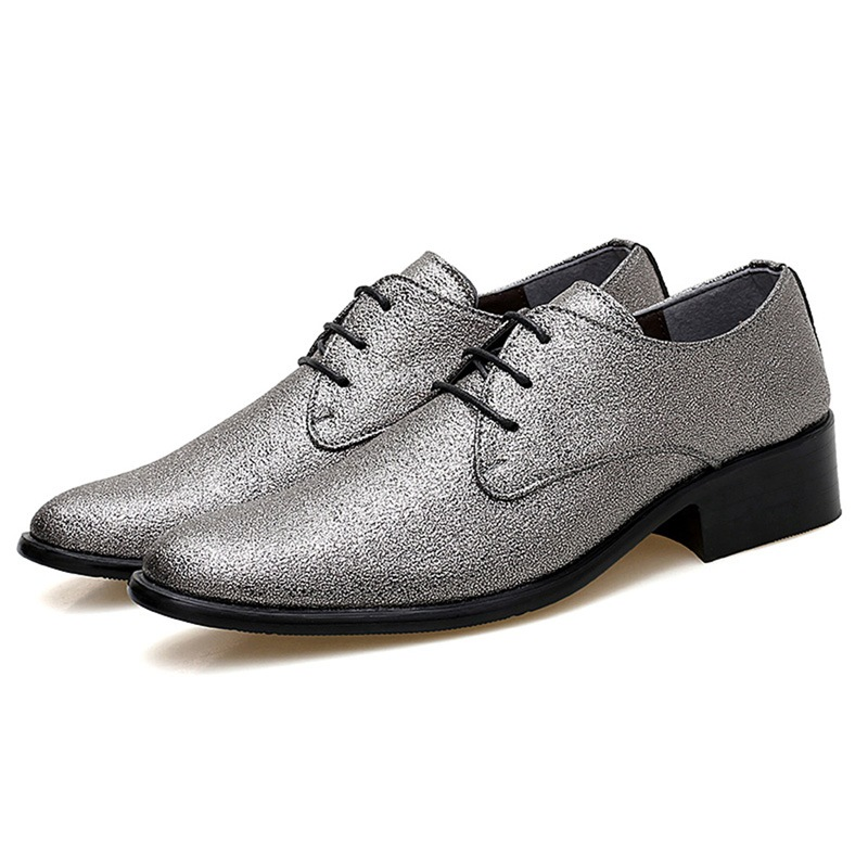 Ericdress Sequin Pointed Toe Lace-Up Men's Shoes