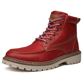 Ericdress Round Toe Lace-Up Front Men's Casual Boots