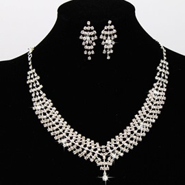 Ericdress Shining Diamante Jewelry Set