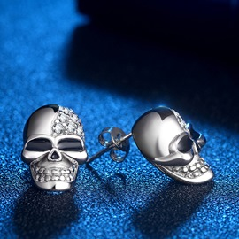 Ericdress Halloween Skull Earrings