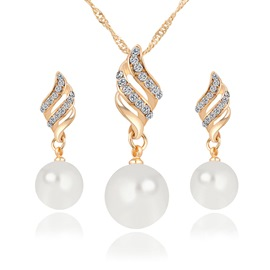 Ericdress Pearl Diamante Earrings