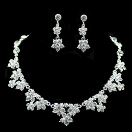 Ericdress Wedding Bride Diamante Jewelry Set