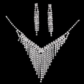 Ericdress Diamante Tassels Wedding Jewelry Set