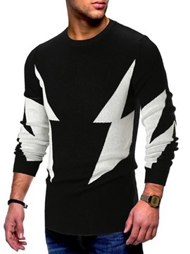 Ericdress Patchwork Slim Mens Casual Sweaters