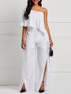Ericdress Asymmetric Plain Side vent Women's Jumpsuits
