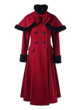 Ericdress Double-Breasted Long Slim Coat