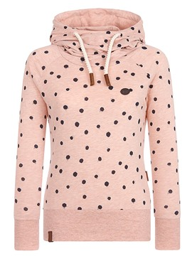 Ericdress Polka Dots Print Hooded Long Sleeves Cool Hoodie