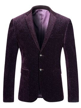 Ericdress Printed Notched Lapel Slim Mens Casual Tuxedo Blazer