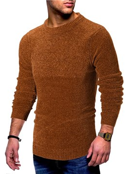 Ericdress Plain Scoop Casual Mens Sweaters